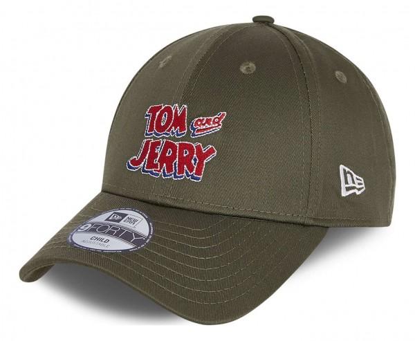 New Era - Tom and Jerry Film Character 9Forty Kids Strapback Cap - Grün Ansicht vorne schräg links