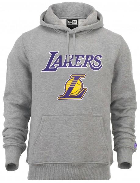 New Era - NBA Los Angeles Lakers Team Logo Hoodie - Grau