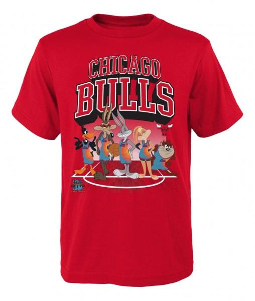 Outerstuff - NBA Chicago Bulls Space Jam Tunes on Court T-Shirt - Rot Vorderansicht