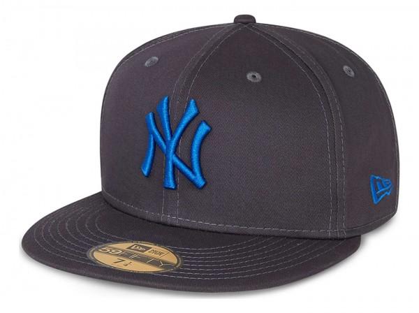 New Era - MLB New York Yankees League Essential 59Fifty Fitted Cap - Grau Ansicht vorne schräg links