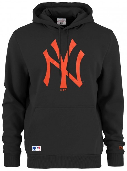 New Era - MLB New York Yankees Seasonal Team Logo Hoodie - Schwarz Vorderansicht