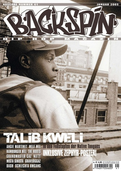 Auf dem Bild ist das Cover zu sehen der BACKSPIN Printausgabe Nummer 41