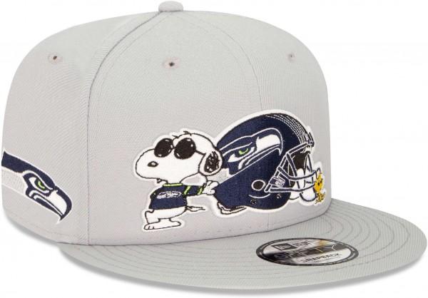 New Era - NFL Seattle Seahawks Peanuts 9Fifty Snapback Cap - Grau Ansicht vorne schräg rechts