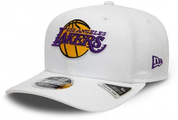 New Era - NBA Los Angeles Lakers White Base 9Fifty Snapback Cap - Weiß Ansicht vorne schräg links