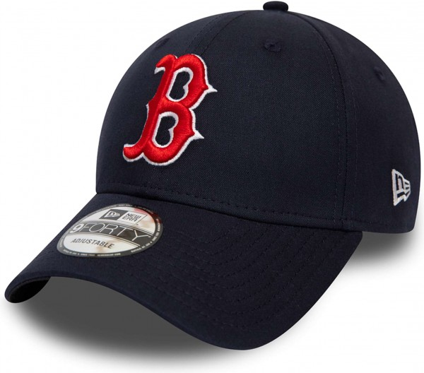New Era - MLB Boston Red Sox Chambray League 9Forty Strapback Cap - Blau Ansicht schräg links