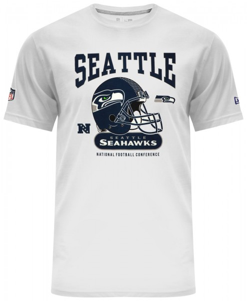 New Era - NFL Seattle Seahawks Helmet Classic T-Shirt - white