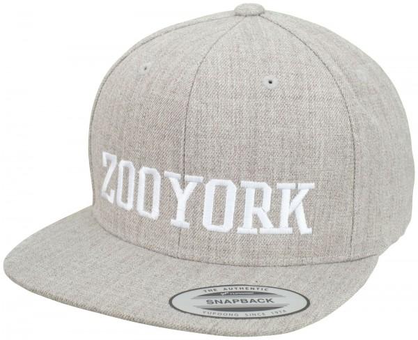 Zoo York - College Flex Fit Snapback Cap - Grau ansicht schräg vorne