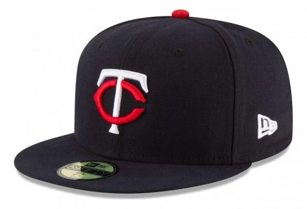 New Era - MLB Minnesota Twins Authentic Collection Fitted Cap - Blau Ansicht vorne schräg links