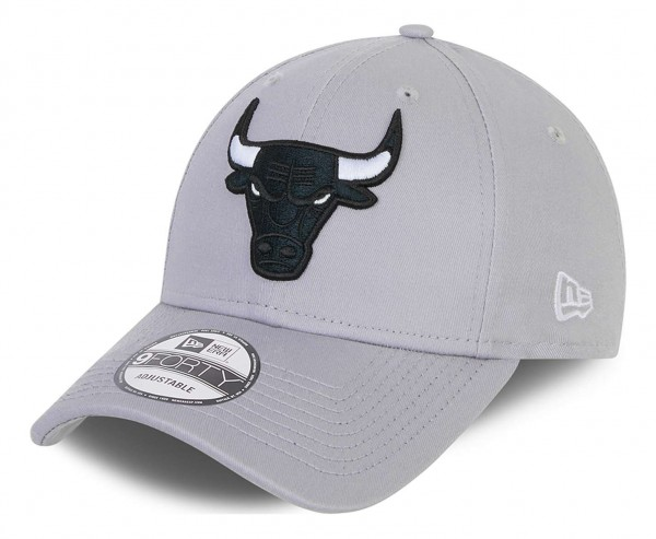 New Era - NBA Chicago Bulls Grayscale 9Forty Snapback Cap - Grau Ansicht vorne schräg links