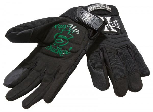 West Coast Choppers - WCC Riding Gloves Handschuhe - schwarz grün