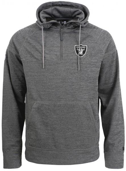 New Era - NFL Oakland Raiders Jersey Zip Hoodie - Grau Vorderansicht