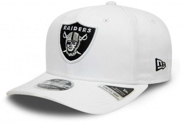 New Era - NFL Las Vegas Raiders White Base 9Fifty Snapback Cap - Weiß Ansicht vorne schräg links