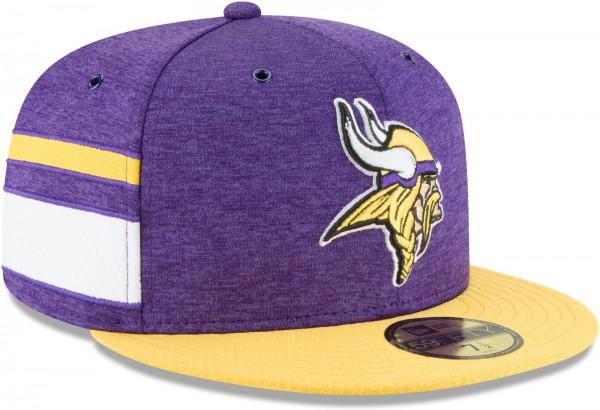 New Era - NFL Minnesota Vikings 2018 Sideline Home 59Fifty Fitted Cap - Violett schräg vorne rechts