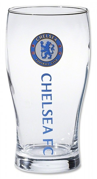 Forever Collectibles - EPL Chelsea FC Pint Glass - Klar Frontansicht