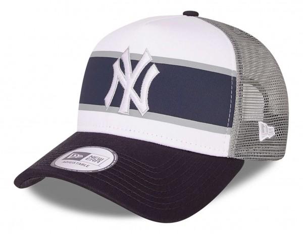 New Era - MLB New York Yankees Retro Trucker Snapback Cap - Weiß Ansicht vorne schräg links