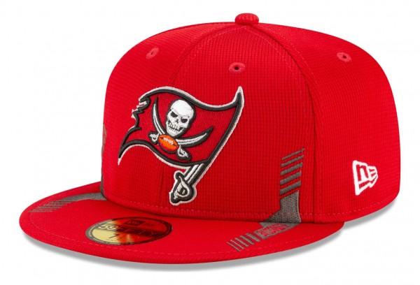 New Era - NFL Tampa Bay Buccaneers 2021 Sideline Home 59Fifty Fitted Cap - Rot Ansicht vorne schräg links