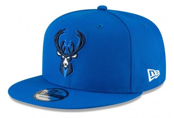 New Era - NBA Milwaukee Bucks 2020 City Series Alternate 9Fifty Snapback Cap - Blau Ansicht vorne schräg links