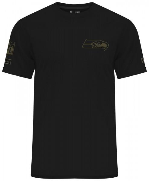 New Era - NFL Seattle Seahawks Camo Collection 2018 T-Shirt - Schwarz ansicht vorderseite