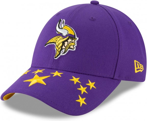 New Era - NFL Minnesota Vikings Draft 2019 On-Stage 9Forty Strapback Cap - Lila Ansicht schräg links