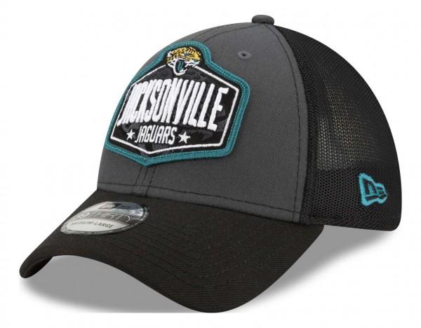 New Era - NFL Jacksonville Jaguars 2021 Draft 39Thirty Trucker Stretch Cap - Mehrfarbig Ansicht vorne schräg links