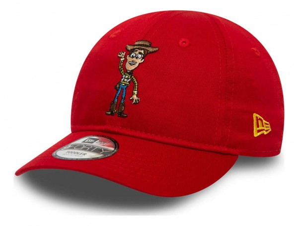 New Era - Disney Toy Story Small Logo Woody 9Forty Toddler Strapback Cap - Rot Ansicht vorne schräg links