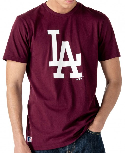 New Era - MLB Los Angeles Dodgers Seasonal Team Logo T-Shirt - Rot Vorderansicht