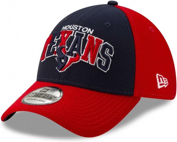 New Era - NFL Houston Texans On Field 2019 Sideline Home 39Thirty Stretch Cap - Mehrfarbig Ansicht schräg links