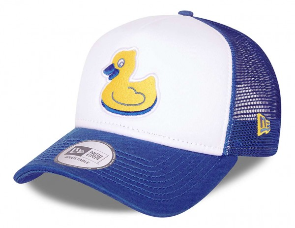 New Era - MiLB Akron RubberDucks Minor League Trucker Snapback Cap - Blau Ansicht vorne schräg links