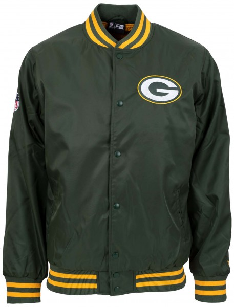 New Era - NFL Green Bay Packers Team Wordmark Bomber Jacke - Grün Vorderansicht