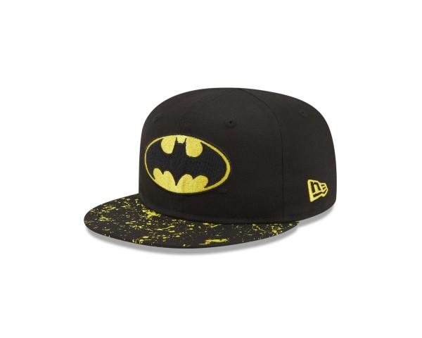 New Era - DC Comics Batman Paint Splat Visor Kids 9Fifty Snapback Cap - Schwarz Ansicht vorne schräg links
