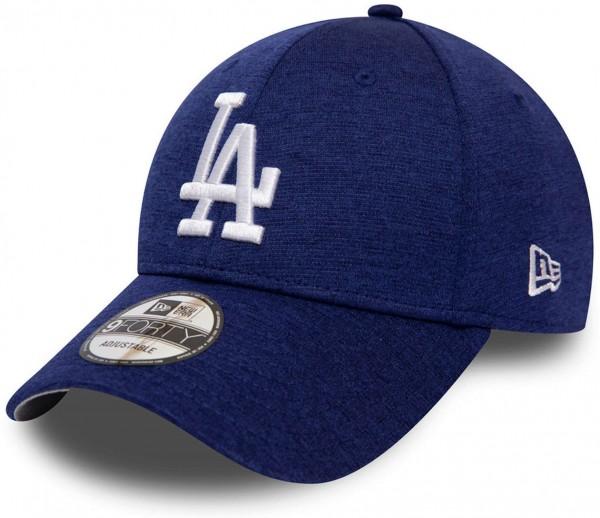 New Era - MLB Los Angeles Dodgers Team Shadow Tech 9Forty Strapback - Blau Ansicht vorne schräg links