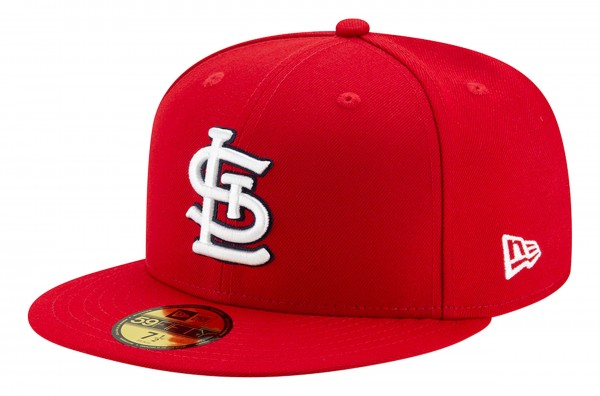 New Era - MLB St. Louis Cardinals Authentic Collection EMEA 59Fifty Fitted Cap - Rot Ansicht vorne schräg links