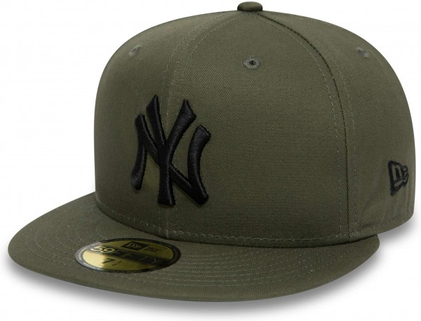 New Era - MLB New York Yankees League Essential 59Fifty Fitted Cap - Grün Vorderansicht schräg rechts