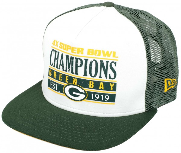 New Era - NFL Green Bay Packers Champions 9Fifty Trucker Cap - Grün Ansicht vorderseite