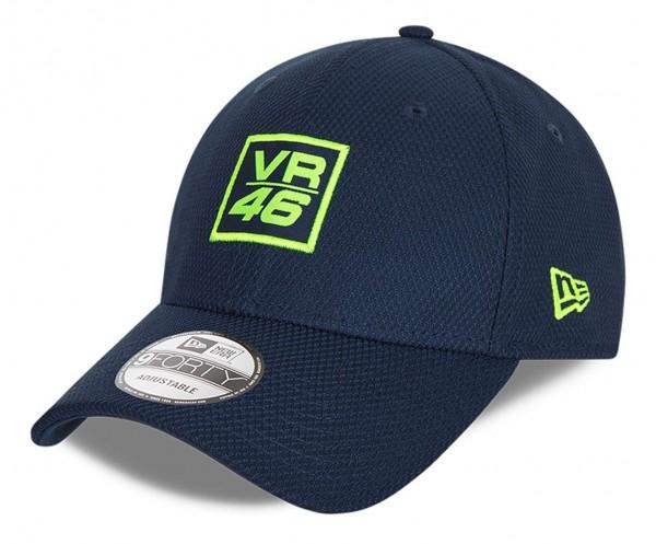 New Era - VR46 Diamond Era 9Forty Strapback Cap - Blau Ansicht vorne schräg links