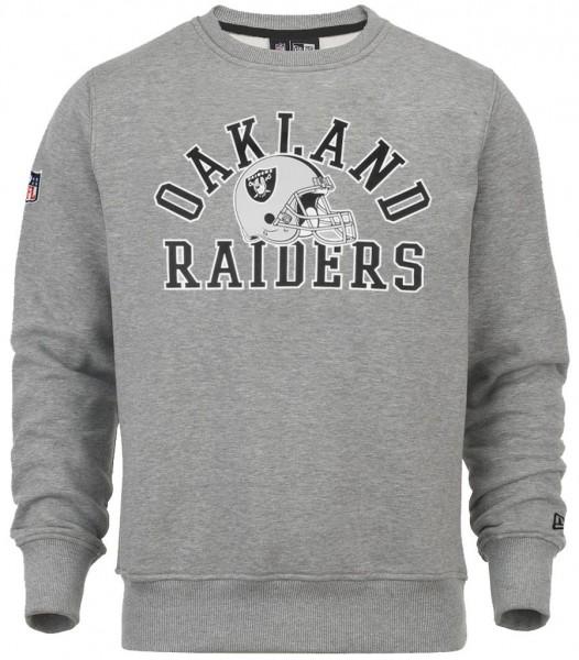 New Era - NFL Oakland Raiders College Sweatshirt - light heather grey