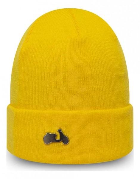 New Era - Vespa Pin Cuff Knit Beanie - Gelb Vorderansicht
