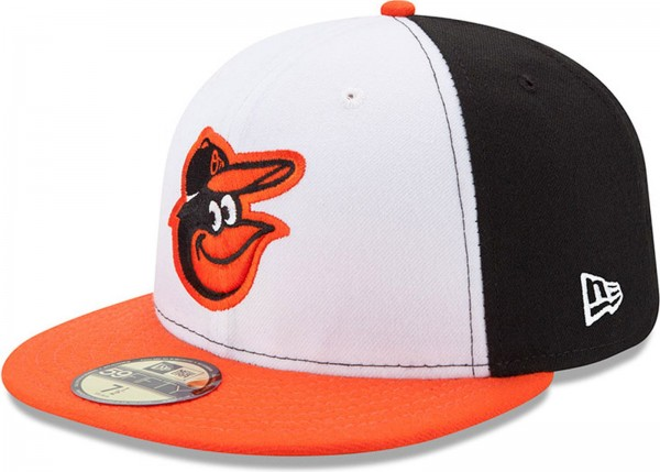 New Era - MLB Baltimore Orioles Authentic On-Field Home 2017 59Fifty Cap - black-white-orange