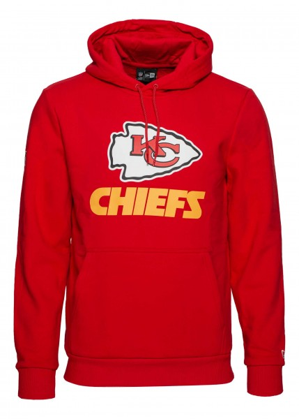 New Era - NFL Kansas City Chiefs Team Logo Hoodie - Rot
