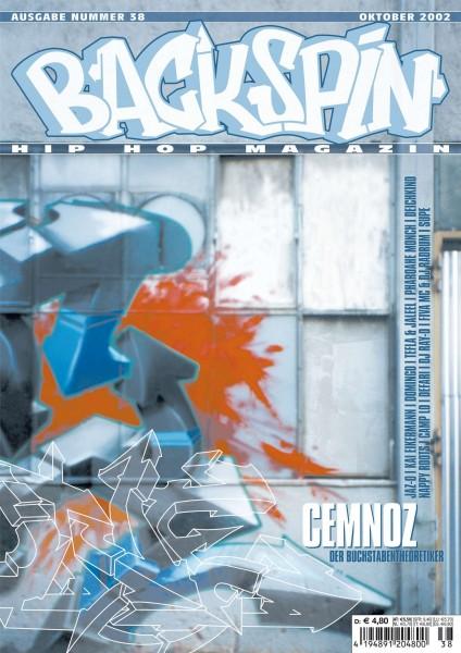 Auf dem Bild ist das Cover zu sehen der BACKSPIN Printausgabe Nummer 38