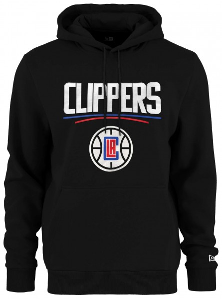 New Era - NBA Los Angeles Clippers Team Logo Hoodie - Schwarz