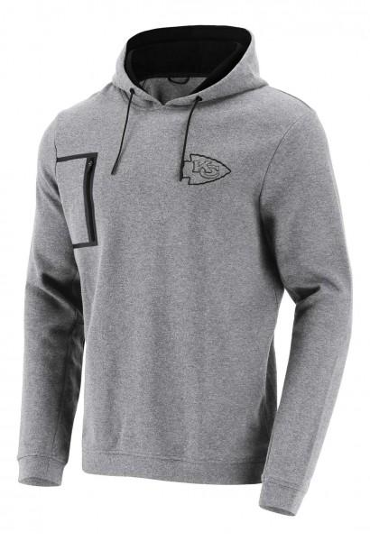 Fanatics - NFL Kansas City Chiefs Mono Premium Graphic Hoodie - Grau Vorderansicht