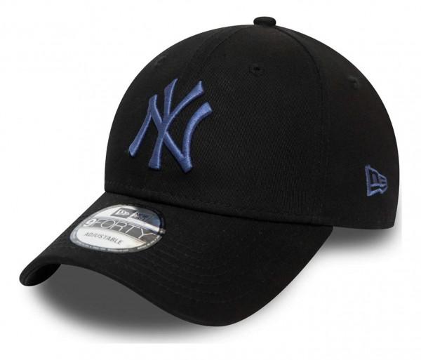 New Era - MLB New York Yankees Colour Essential 9Forty Strapback Cap - Schwarz Ansicht vorne schräg links