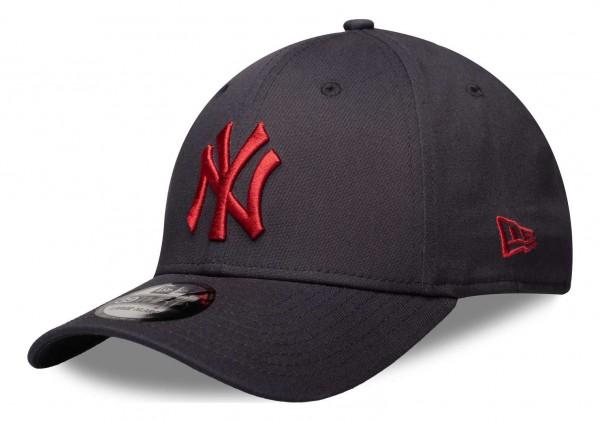 New Era - MLB New York Yankees League Essential 39Thirty Stretch Cap - Blau Vorderansicht