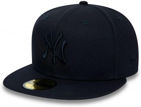 New Era - MLB New York Yankees Essential Kids 59Fifty Fitted Cap - Blau Ansicht vorne links