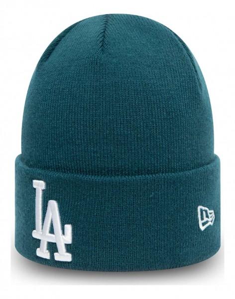 New Era - MLB Los Angeles Dodgers League Essential Knit Cuff Beanie - Blau Ansicht vorne schräg links