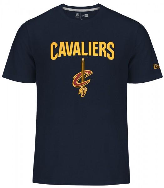 New Era - NBA Cleveland Cavaliers Team Logo T-Shirt - Blau
