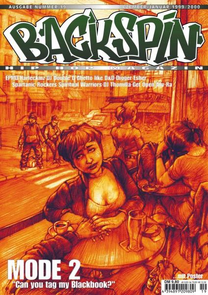 Auf dem Bild ist das Cover zu sehen der BACKSPIN Printausgabe Nummer 19