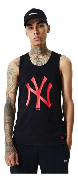 New Era - MLB New York Yankees Seasonal Team Logo Tank Top - Schwarz Vorderansicht