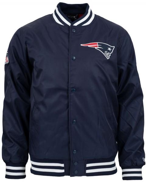 New Era - NFL New England Patriots Team Wordmark Bomber Jacke - Blau Vorderansicht
